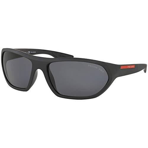 Prada LINEA ROSSA 0PS 18US Gafas de sol, Matte Black/Black, 65 para Hombre