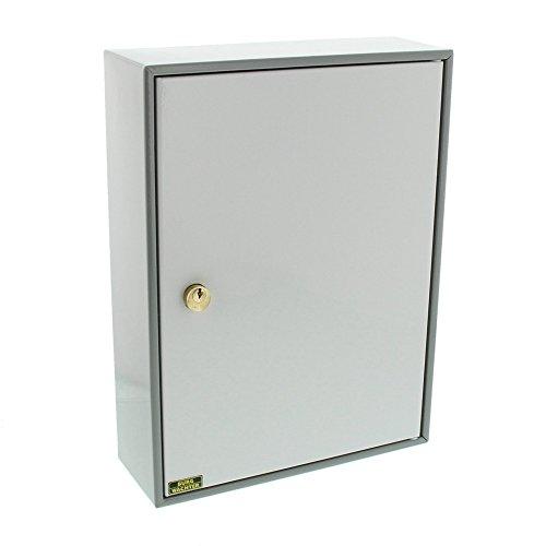 Burg-Wächter 6700/74 R Schlüsselschrank 6700, mit 74 Haken, Stahl grau/hellgrau