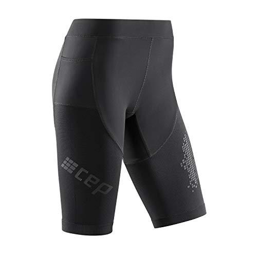 CEP - Run Shorts 3.0 für Damen | Laufshorts mit milimetergenauer Kompression in schwarz | Größe IV