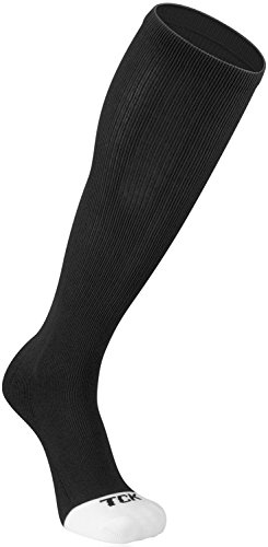 TCK Prosport Performance Tube Socks (Black, Medium)