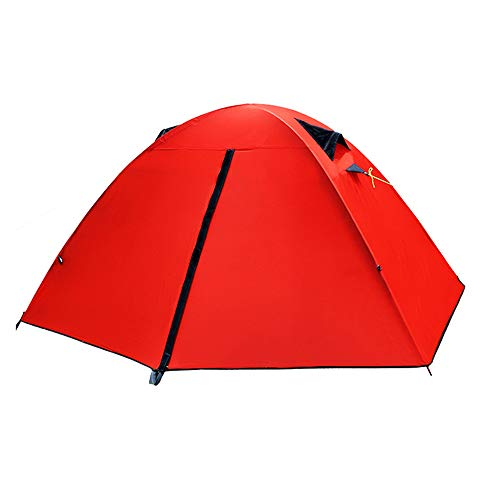 XUMENG 1 Person 3 Season Backpacking Tent Portable Ultralight Waterproof Camping Equipment Doom Tents for Outdoor Hiking Camp,Red