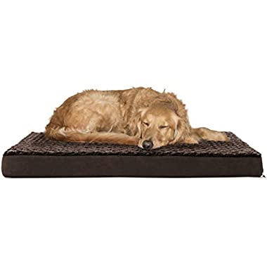 Furhaven Pet Deluxe Orthopedic Pet Bed Mattress for Dogs and Cats, Espresso, Large