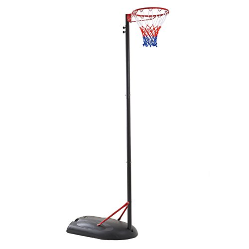 Photo of Bee-Ball Netball Post – Portable and Adjustable Stand and Net Set Suitable for Training Adults and Children – Full Size Regulation Hoop Height and Size