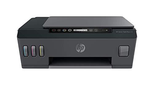 HP Smart Tank Plus 555 Stampante Multifunzione con Serbatoio a Getto di Inchiostro, Scanner, Fotocopiatrice, Velocità 11 ppm Nero e 5 ppm Colori, Wi-Fi, Wi-Fi Direct, App HP Smart, USB, Nero