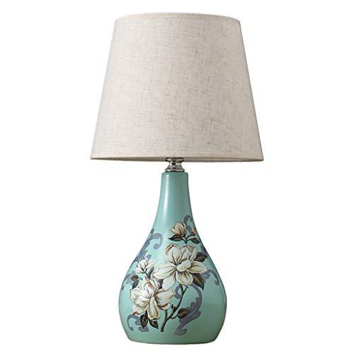 Lámpara de mesa Lámpara de lectura cálida luz caliente Style American Home dormitorio lámpara de mesa de noche lámpara de mesa sala de mesa Lámpara de cerámica Lámpara de mesa Lámpara de mesita de noc