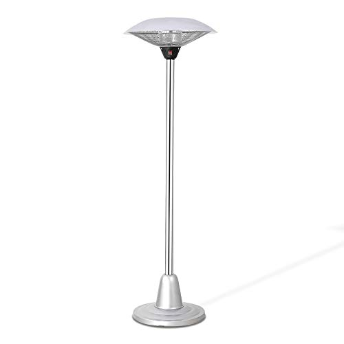 Joy Pebble Outdoor/Indoor Electric Patio Heater, Freestanding Infrared Heater with Waterproof & Two Adjustable Switch Mode for Patio,Lawn and Porch,750W/1500W