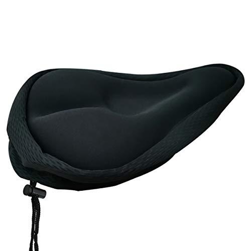 LQRLY Funda de asiento de bicicleta acolchada de gel suave, cómoda funda de cojín de bicicleta antideslizante para bicicleta de montaña y bicicleta de ejercicio