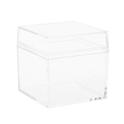 DealMux Caja de almacenamiento de joyería sencilla y práctica: caja de almacenamiento, perfecta para espuma, limo, barro, dulces de arcilla ligera, etc.