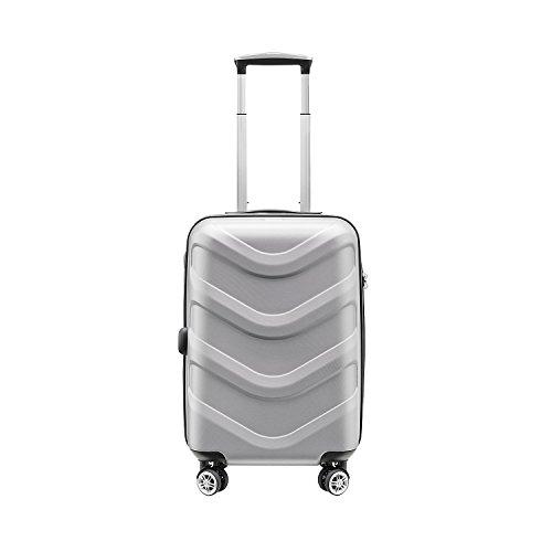 Stratic Arrow 4-Rollen-Bordtrolley 55 cm Silver