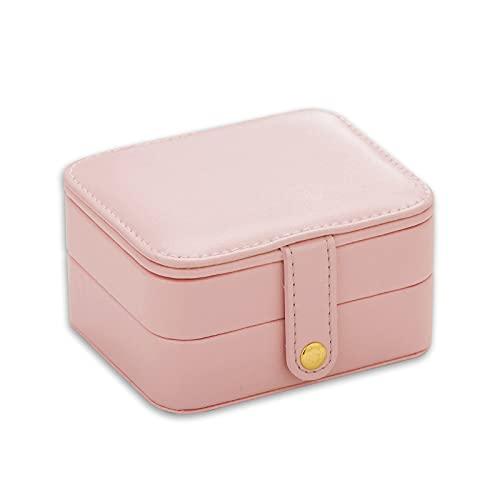 Caja de joyería portátil Paquete de joyas de viaje pequeños pendientes de mano con dedos pequeños Caja de almacenamiento de joyería-blanco, A