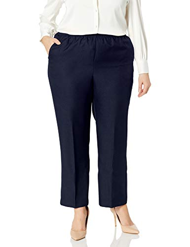 Alfred Dunner Womens Plus Average Pant, Blue, 18W