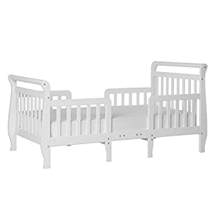 Dream On Me Emma 3 in 1 Convertible Toddler Bed in White, Greenguard Gold Certified