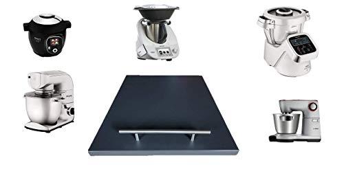 Gleitbrett für den Thermomix® TM5 / TM6 / Anthrazit und weitere Küchengeräte