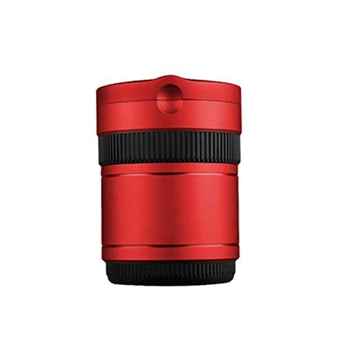 NNR Cenicero Extraíble del cenicero del Coche de Metal + ABS Multifuncional con Tapa, Retardante de Llama, la decoración del Coche, cenicero Cubiertos con luz Cenicero Interior (Color : Red)