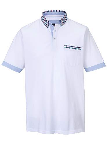BABISTA Herren Regular Fit Poloshirt in Weiß aus Baumwolle in luftdurchlässiger Piquee-Qualität