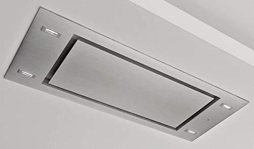 Roestvrijstalen plafondventilator Viterbo afzuigkap voor afzuigkap en luchtcirculatie met afstandsbediening 537099