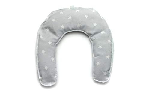 Saco Térmico de Semillas Cervicales Calor seco para Microondas con Funda Lavable (Estrellas Gris)
