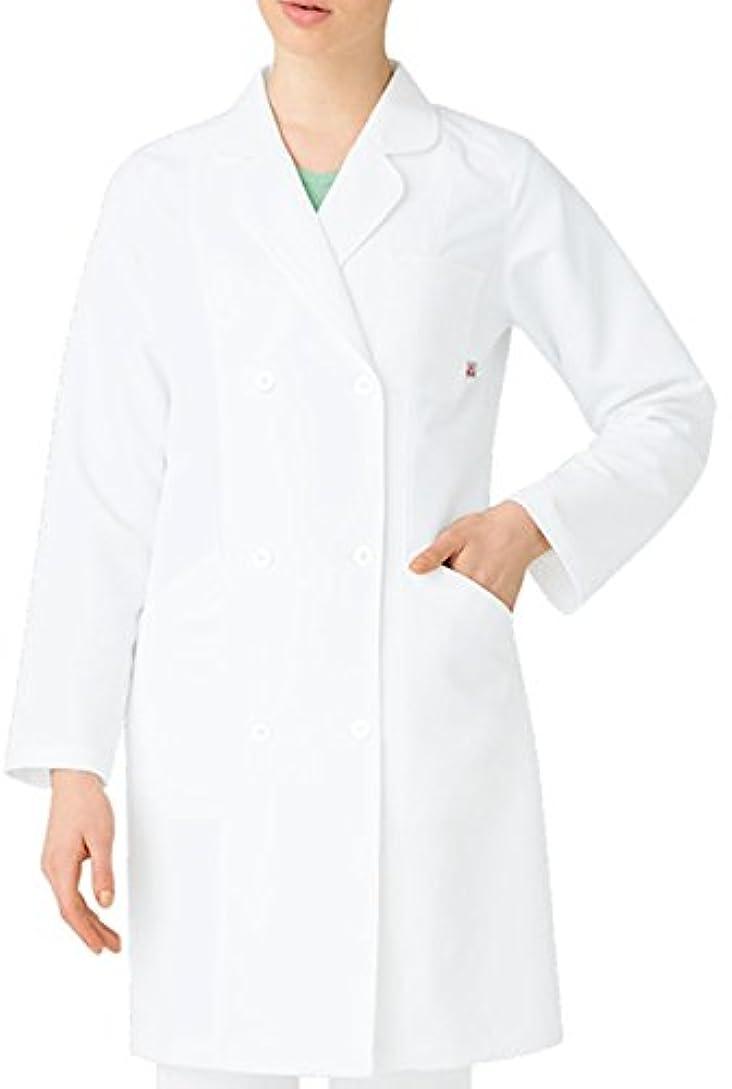 氏浴本物の医療ユニフォーム 白衣 レディスドクターコート ルコック バニラ サイズ:EL UQW4102-1