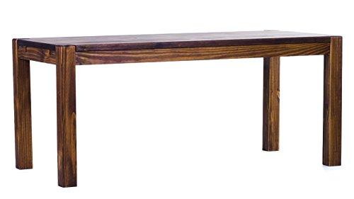 Brasilmöbel® eettafel 120x80x78 Rio Kanto - eiken antiek pijnboom massief hout - grootte en kleur naar keuze - eetkamertafel keukentafel houten tafel echt hout - voorbereid voor aansteekplaten - tafel