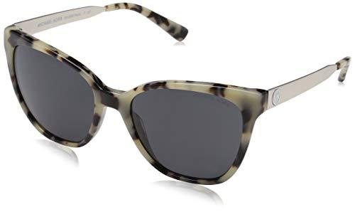 Michael Kors Napa 331287 55 Gafas de sol, Marrón (Cream Tortoise/Greysolid), Mujer