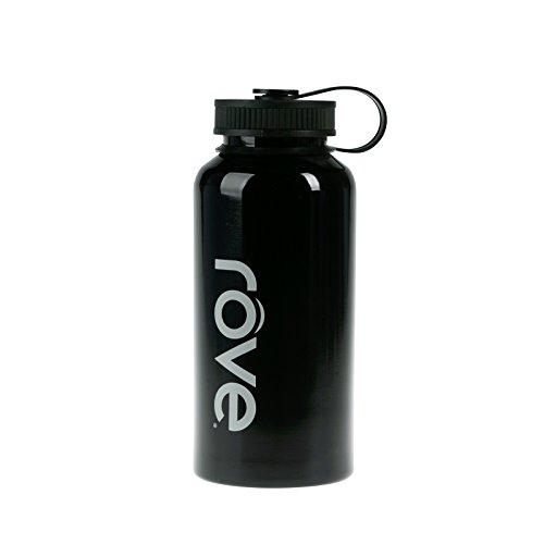 40oz Stainless Steel Single Wall Water Bottle - Commando (Black)