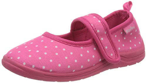 Playshoes Punkte, Unisex-Kinder Niedrige Hausschuhe, Pink (pink 18), 26/27 EU