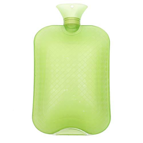 Klassieke Rubber Hot Water Fles 3L Geweldig voor Pijn Verlichting, Hete en Koude Therapie, Natuurlijke Rubber BPA Free- Duurzame Hot Water Fles Groen