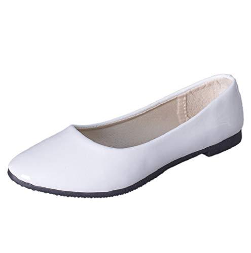 Damen Geschlossene Ballerinas Damenschuhe Basic Ballerinas Klassische Ballerinas Hochzeit Abiball Tanzschuhe Business Damen Schuhe Bequeme Slip-Ons 2019 TWBB