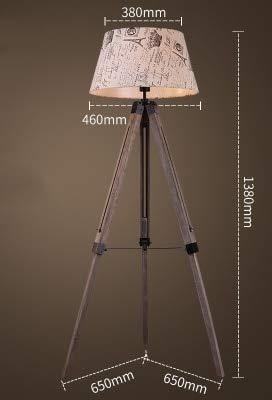 WUYUESUN American Vintage Lámpara de pie Ajustable Trípode Lámparas de pie for Sala de Estar Dormitorio Dormitorio Decoración Luz Home E27 Lámpara de pie (Lampshade Color : A)