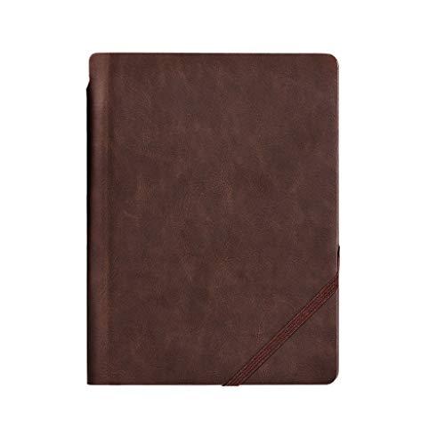 yangdan HF Cuaderno de 120 páginas de cuero con bolígrafo de negocios espesar papelería diario papelería cuaderno de dibujo manual (color: 25 k)