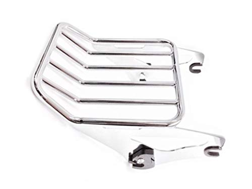 Chrome Detachable Two Up Luggage Rack Mount Rear Carrier for Harley Davidson Touring like HD Street Glide Road King Ultra CVO Electra Detachables 2009-2020 Easy Detach Quick Release # 54215-09A 09-20