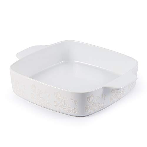 Baking Dish Ceramic 9x9 Baking Pan, Casserole Dish Square