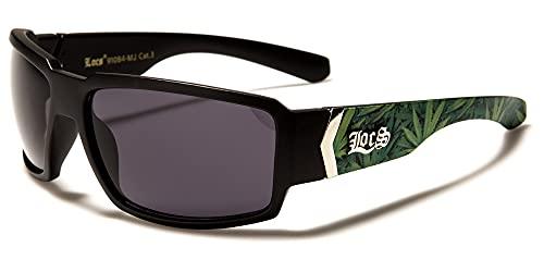LOCS BIKER GANGS SPORT HARDCORE SHADES Gafas de sol Choppers OG (Negro-LC91084)