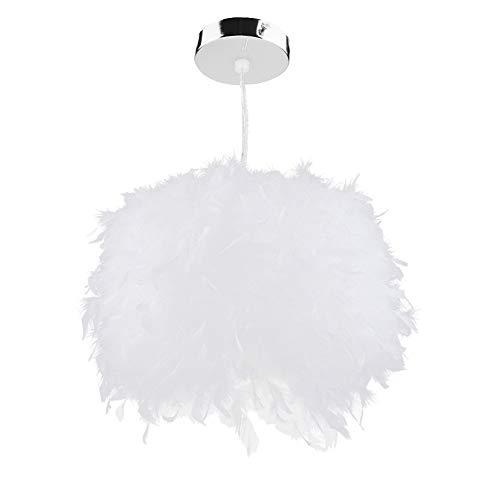 Estink - Lámpara de techo con plumas colgantes para salón, salón o sala de exposición, 110 – 240 V, color blanco