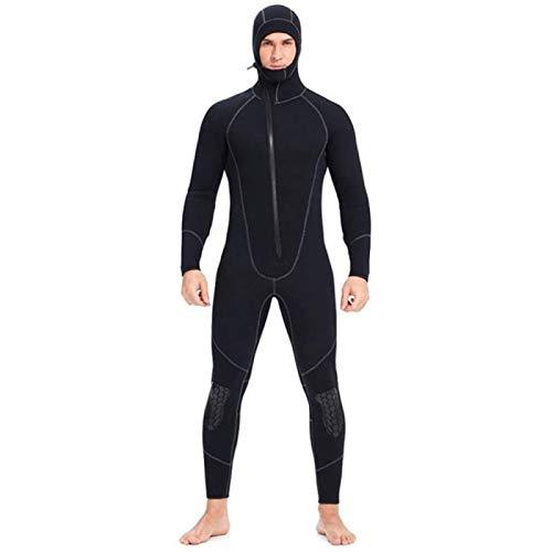 Traje de buceo con cremallera frontal de 5 mm de manga larga o corta de neopreno para hombre, buceo, esnórquel, traje de neopreno subacuático, caza, surf, A-XX