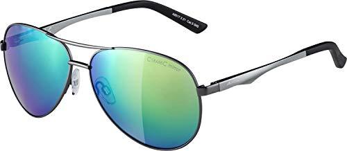 ALPINA A 107 Sportbrille, Unisex– Erwachsene, gun matt, one size