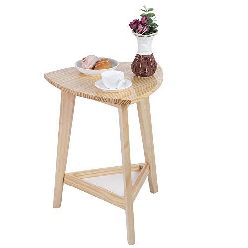 Ejoyous Deko Holz Tisch, Kleiner Beistelltisch Couchtisch Sofatisch, Eckdisplayregal Bücherregal Regal Eleganter moderner dreieckiger Teetisch Eckschreibtisch Kleiner Beistelltisch