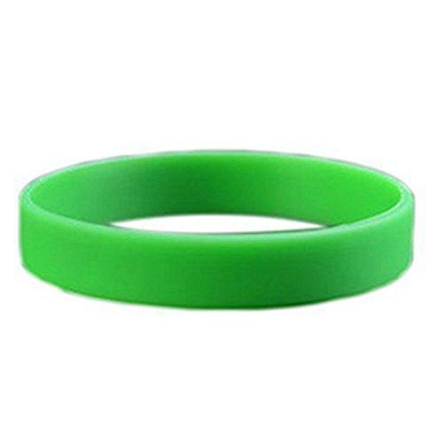 Rayocon Brazalete de Puno Munequera Pulsera de Elasticidad de Moda de Goma de Silicona Verde