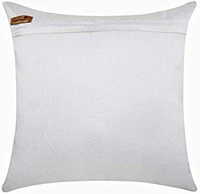 The HomeCentric Decorative Pillow Covers 24 x 24 inch White, Silk Throw Pillow Covers,