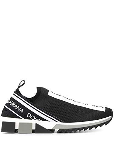 DOLCE E GABBANA Luxury Fashion Herren CS1713AH67789690 Schwarz Slip On Sneakers | Herbst Winter 19