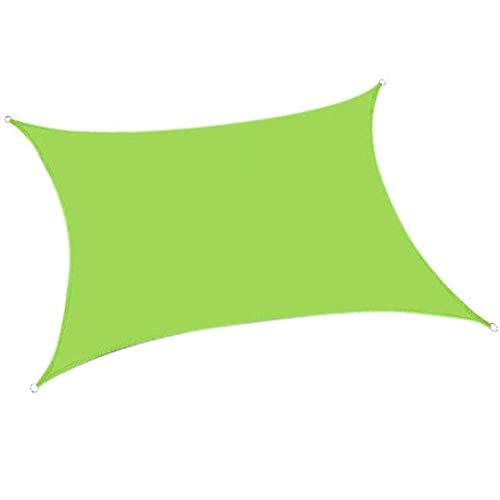 Toldo Vela De Sombra para Patio, Impermeable A Prueba De Viento, Toldo De Refugio Rectángulo, Canopy Vela Protección UV (5×6m,Verde Claro)
