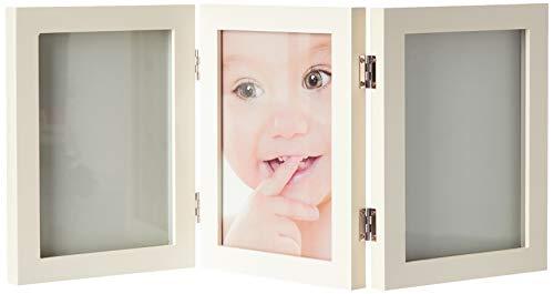 My Sweet Memories, Marco de fotos tripe con dos kit de huellas para manos y pies del recién nacido, blanco