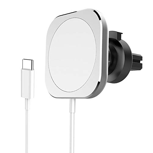 Shiwaki Cargador de Coche inalámbrico magnético WP11 para 12 Pro/MAX/Mini con Abrazadera de ventilación de Aire Segura Alineación automática