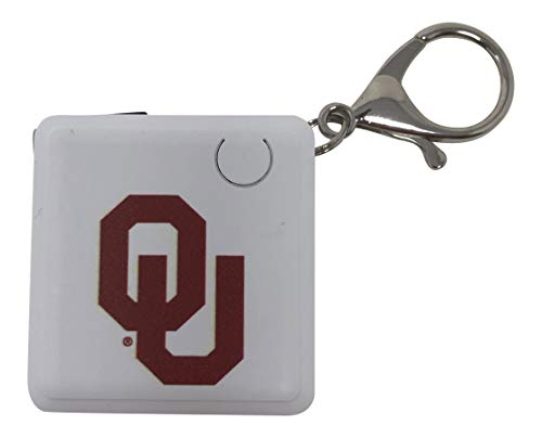 University of Oklahoma Sooners Rechargeable Key Chain Charger Power Bank Battery Dual Connector for Android Micro USB Apple Official Collegiate Logo
