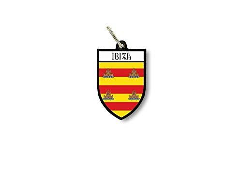 Sleutelhanger Sleutelhanger Ring Vlag Nationale Souvenir Shield Ibiza Spanje
