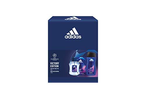 Adidas, Confezione Regalo Uomo UEFA Champions League Victory Edition, Eau de Toilette 50 ml e Gel Doccia Bagnoschiuma 3in1 250 ml