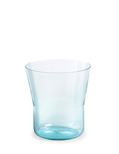 Authentics Piu Vase 15, Verre Soufflé à la Bouche, Bleu Clair, 15 cm, Ø 14 cm, 2818566
