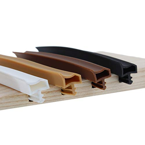 ToniTec Türdichtung Dichtprofil für Holzzargen Zimmertürdichtung 12mm 50m Weiß
