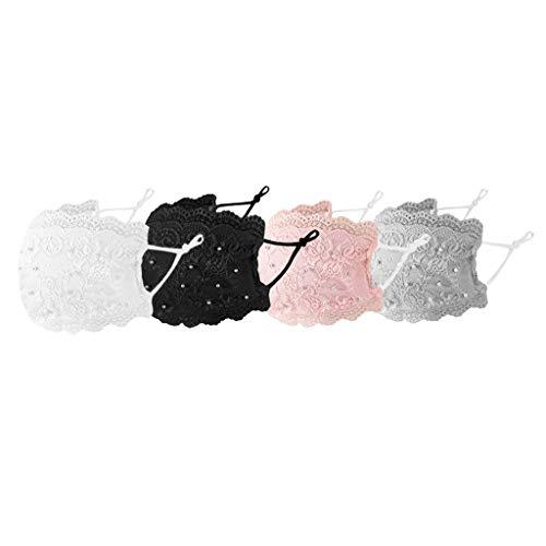 Goldye 4pc Fashionable Pearl lace F…