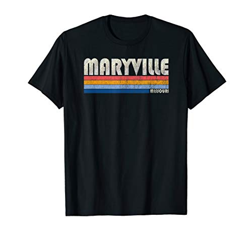 Vintage 70s 80s Style Maryville MO T-Shirt -  Trendy Retro 70's 80's Style Clothing